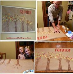 How to DIY Handprint Family Tree Wall Art | www.FabArtDIY.com LIKE Us on Facebook ==> https://www.facebook.com/FabArtDIY