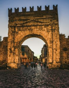 Mostly Italy. Arch of Augustus, Rimini