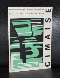 Copy of Revue de l'art Actuel # CIMAISE 1, Navarro # Novembre 1952, mint-