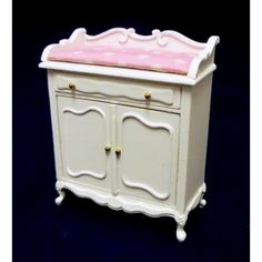 Dolls House Fine Miniature Nursery Furniture Shabby Chic White Changing Table