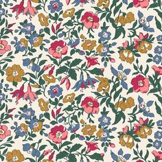 The English Garden Collection Liberty London Fabric Mamie Floral Cotton Colour Variations Available Fat Quarters, Half Metre, Metres - The English Garden Collection Liberty London Fabric Mamie Floral Cotton Colour Variations Avai - Fabric London, Liberty Of London Fabric, Liberty Fabric, Liberty Print, Motifs Textiles, Famous Gardens, English Roses, Fabric Online, Retro