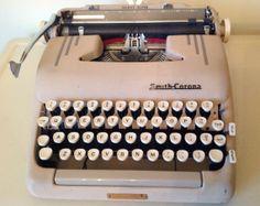Vintage Smith Corona Manual Typewriter Silent by TresconyAntiques, $79.00 Retro Typewriter, Typewriters, Saddle Leather, Vintage Wear, Manual, Corona, Textbook, Typewriter, Retro Clothing