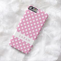 Love this iPhone 6 Case! Girly Chic Trendy White Pink Polka Dots Barely There iPhone 6 Case