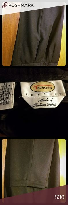 🔴BLACK WOOL PANTS Black, fully lined, cuffed dress pants from Talbots. GUC FINAL PRICE Talbots Pants Straight Leg
