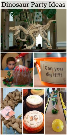 Awesome dinosaur boy birthday party ideas! See more party ideas at CatchMyParty.com.