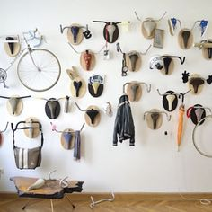Hunting trophies by Austrian creative Andreas Schweiger, details on the site