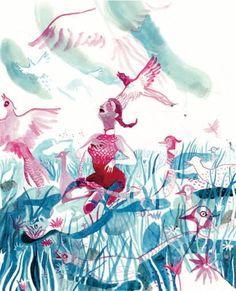 Brecht Evens, tiré du roman graphique Les Noceurs, pas si passionnant mais aux aquarelles magnifiques