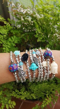 Silver metal beads amulet bracelet Protection by TresJoliePT