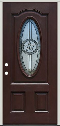 Ready to stain or paint texas star fiberglass door unit with wood grain get the look of wood - Paint or stain fiberglass exterior doors concept ...