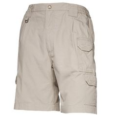 5.11 Tactical Shorts - Men's, Cotton  Product #: 73285   4.4  Read 86 ReviewsWrite a Review        Identical to the 5.11 Tactical Pant but with 9 inseam  Durable, comfortable and functional  Superior fit  Patented rear strap and slash pocket design  Double and triple-stitch construction  48 bartacks in high stress areas  Self-adjusting comfort waistband  Cordura® nylon lining in select zones  Double thick seat  Genuine YKK® zippers and Prym® snaps  Convenient D-ring  Tough 8.5-oz. cotton…