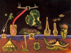 """""""Surrealism and Painting"""", Oil On Canvas by Max Ernst Germany) Magritte, Max Ernst Paintings, Dada Artists, Hans Thoma, Francis Picabia, Fantastic Art, Surreal Art, Oeuvre D'art, Collages"""