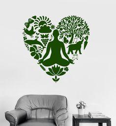 Wall Art Mural Yoga Buddha Meditation Om Lotus Decor by BoldArtsy