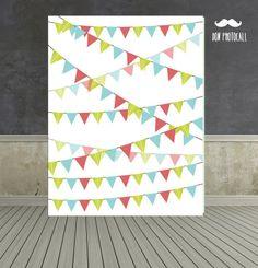 Photocall banderines. Backdrop party.#backdrop #photobooth #photocall…