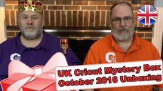 """United Kingdom's Cricut Mystery Box - October 2016 Unboxing/Reveal - http://www.craftsbytwo.com/united-kingdoms-cricut-mystery-box-october-2016-unboxingreveal/  Not quite an unboxing this time.  The box didn't reach our shores in time to share that with you all. Join us for a quick reveal of this month's United Kingdom Cricut Mystery Box!  Visit our blog by clicking for easy shopping links and a list of the contents if you don't want to watch the video!  Check out """"Unit"""