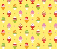 easter_eggs fabric by jakima on Spoonflower - custom fabric