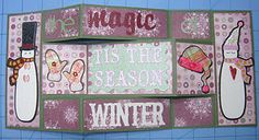 Christmas Tri-Fold Shutter card made with Cricut Winter Woodlands and Sentimentals cartridges