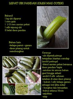 Lepat ubi pandan Malaysian Dessert, Malaysian Food, Malaysian Recipes, Asian Desserts, Asian Recipes, Snack Recipes, Cooking Recipes, Snacks, Traditional Cakes