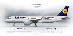 Airbus A320neo Lufthansa D-AINA | www.aviaposter.com | Airliners profile print | #airliners #aviation #jetliner #airplane #pilot #avia #airline