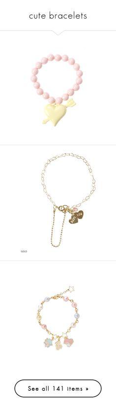 """cute bracelets"" by kawaii-items ❤ liked on Polyvore featuring cute, pastel, kawaii, japan, jfashion, jewelry, bracelets, star jewelry, star charm bracelet and star bangled"