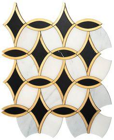 Glamorous Gold Tiles - Tile Lines Marble Mosaic, Stone Mosaic, Mosaic Art, Mosaic Glass, Mosaic Tiles, Wall Tiles, Glass Tile Backsplash, Glass Tiles, Art Deco Tiles