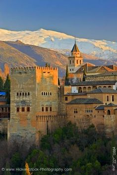 """Alhambra located in Granada, Andalusia, Spain. Originally built by Berber rulers of the Emirate of Granada in al-Andalus. Calat Alhambra which the full Arabic name meaning """"the red fortress"""". It is a must see. Places Around The World, Oh The Places You'll Go, Places To Travel, Places To Visit, Around The Worlds, Granada Spain, Andalusia Spain, Alhambra Spain, Madrid"""