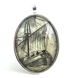 Ship Dictionary Illustration Pendant by CarpeDiemHandmade, $10.00