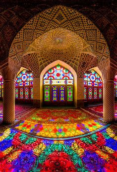 Stained Glass in Iran Mosque