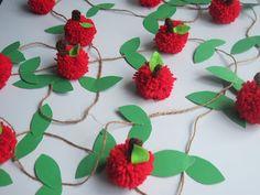 DIY CRAFTS apple pon pon garland