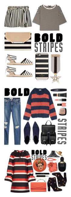 """""""Winners for Big, Bold Stripes"""" by polyvore ❤ liked on Polyvore featuring TIBI, Kate Spade, Stella & Dot, Soludos, Chloé, VANELi, Aspinal of London, Rimmel, MAC Cosmetics and L'Oréal Paris"""