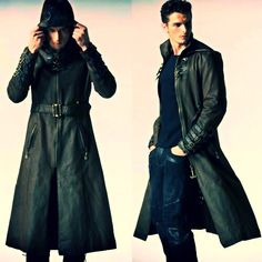 Wearing a pleasant coat to wear: mens trench coat mens trench coat men brown leather hooded steampunk goth military trench coat overcoat ridjusy Mode Steampunk, Steampunk Fashion, Gothic Fashion, Mens Fashion, Fashion Outfits, Fashion Tips, Fashion Clothes, Style Fashion, Steampunk Coat