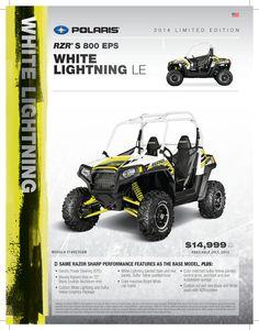 2014 Polaris RZR S 800 EPS in White Lightning. #WoodsCycleCountry