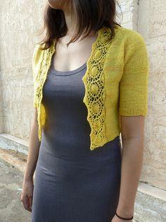 Ravelry: Medallion-Edged Shrug pattern by Katya Frankel