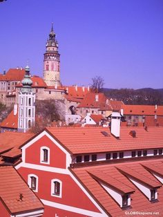 red tile rooves krumlov bohemia bohemian by rangutan Red Tiles, Pop Up, Bohemian, Mansions, House Styles, Gallery, Photography, Home, Decor