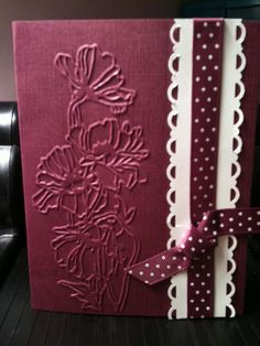 Rich Razzleberry and white along with Flower Garden folder