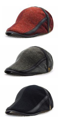US$9.57 (47% OFF) Men Women Cotton Knitting Newsboy Beret Caps / Casual Outdoors Peaked Hat