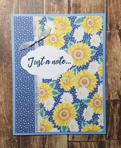 Easy Cards, Cute Cards, Sunflower Cards, Card Crafts, Card Sketches, Brighten Your Day, Paper Cards, Scrapbook Cards, Homemade Cards