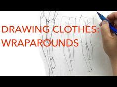 1f752d1eeb0 (2) Drawing Clothes 1  Wraparounds - YouTube Fashion Illustration Tutorial
