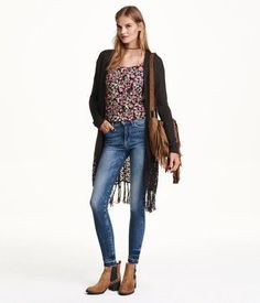 Lucille Mae: H&Ms Fringed Cardigan