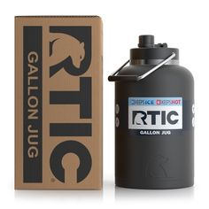 Rtic Gallon Stainless Steel Jug Black Matte for sale online Gallon Water Bottle, Water Jugs, Massive Jugs, 5 Gallon Container, Bubba Keg, Large Water Bottle, Insulated Tumblers, Bottle Holders, Steel Water