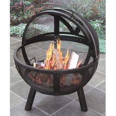 Bowl fire pit for the porch