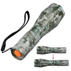 BlueFire Forest Camo Flashlight 1200LM XMLL2 LED Flashlight Waterproof Adjustable Focus Zoomable Pocket Torch for Camping Hunting Fishing  Hiking >>> Be sure to check out this awesome product.