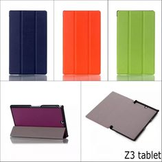 Fashion retro Three folded Stand holder PU Leather cover Case For sony xperia Z3 tablet Compact 8'' with stylus pen #jewelry, #women, #men, #hats, #watches, #belts, #fashion