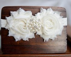 Baby Headband Christening Headband Baptism by YourFinalTouch