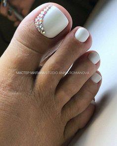 23 Ideas For Pedicure Nail Art Designs Toenails Wedding Toes Simple Toe Nails, Summer Toe Nails, Cute Toe Nails, My Nails, Summer Pedicures, Jamberry Nails, Yellow Toe Nails, Toe Nail Color, Toe Nail Art