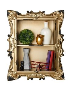 AdirHome Classic Wood Shelf with Flared Design & 2 Sections Wooden Wall Shelves, Hanging Shelves, Floating Shelves, Shelf, Home And Garden, Interior Design, Classic, Chihuahua, Ebay