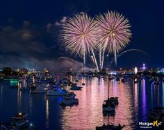 """""""Excuse me while I kiss the sky""""   Bay City Fireworks - July 2017.  Thanks for sharing..  **Happy Independence Day!** Photo by Michigan Nut Photography"""