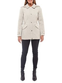 London Fog Triangle Quilted Hooded Jacket   TheBay