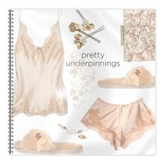 """""""The P r e t t i e s t Underpinnings"""" by nonniekiss ❤ liked on Polyvore featuring Carine Gilson, Phase Eight and River Island"""