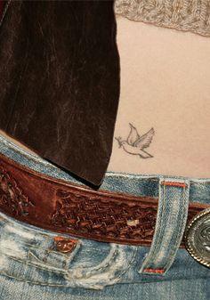 Jessica Biel Dove Tattoo