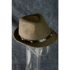 Fedora Hat Trend Fashion Fall Winter Hipster Gold Studded Hat Brown $15 only  www.monrevecollection.com